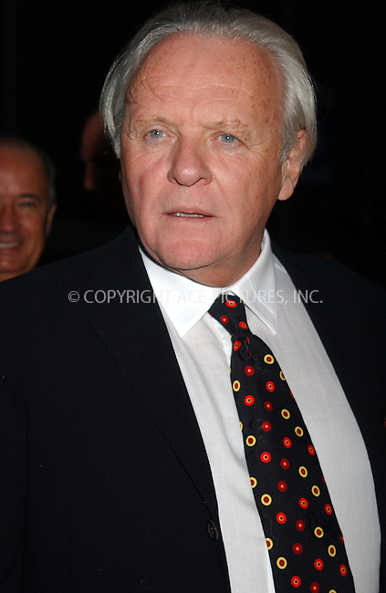 WWW.ACEPIXS.COM . . . . . ....NEW YORK, SEPTEMBER 13, 2005....Anthony Hopkins at the Proof premiere held at the Ziegfeld Theatre.....Please byline: KRISTIN CALLAHAN - ACE PICTURES.. . . . . . ..Ace Pictures, Inc:  ..Craig Ashby (212) 243-8787..e-mail: picturedesk@acepixs.com..web: http://www.acepixs.com