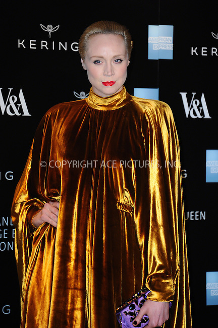 WWW.ACEPIXS.COM<br /> <br /> March 12 2015, London<br /> <br /> Gwendoline Christie at the Alexander McQueen: Savage Beauty Gala at the V&amp;A Museum on March 12 2015in London<br /> <br /> By Line: Famous/ACE Pictures<br /> <br /> <br /> ACE Pictures, Inc.<br /> tel: 646 769 0430<br /> Email: info@acepixs.com<br /> www.acepixs.com