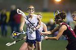 Santa Barbara, CA 02/18/12 - Maggie  Stankaitis (Pittsburg #10) and Lexa Taylor (Santa Clara #30) in action during the Pittsburg vs Santa Clara matchup at the 2012 Santa Barbara Shootout.  Santa Clara defeated Pittsburg 12-9.