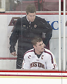 Kevin Pratt (BC - Manager), Pat Mullane (BC - 11) - The University of Massachusetts Lowell River Hawks defeated the Boston College Eagles 4-2 (EN) on Tuesday, February 26, 2013, at Kelley Rink in Conte Forum in Chestnut Hill, Massachusetts.