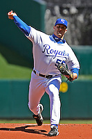 Royals RHP Gil Meche starts against Detroit at Kauffman Stadium in Kansas City, Missouri on April 7, 2007.  The Tigers won 6-5.
