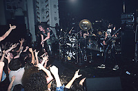 Voivod performs at The Metro in Chicago, Illinois.<br /> May 31,1986<br /> CAP/MPI/GA<br /> &copy;GA/MPI/Capital Pictures