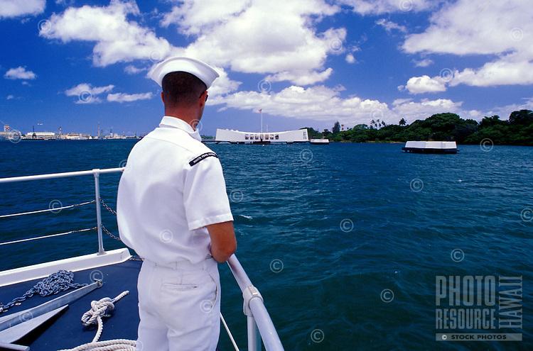 On the boat heading towards the Arizona Memorial at Pearl Harbor
