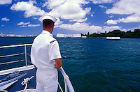 On the boat heading towards the Arizona Memorial at Pearl Harbor