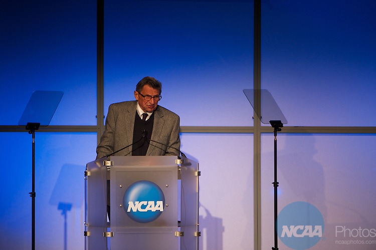 13 JAN 2011: The Opening Business Session held inside the Lila Cockrell Theatre at the Henry B. Gonzalez Convention Center during the annual NCAA Convention held in San Antonio,TX. .Pictured: Joe Paterno.(Joshua Duplechian/NCAA Photos)