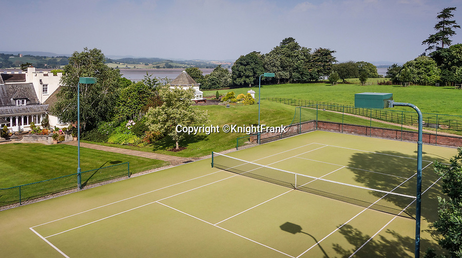 BNPS.co.uk (01202 558833)<br /> Pic: KnightFrank/BNPS<br /> <br /> No bowling green...but you do get a tennis court.<br /> <br /> A breathtaking waterfront mansion that was once home to Sir Francis Drake has emerged for sale for £5m.<br /> <br /> Belvedere in Exmouth, Devon, is nestled on the banks of the River Exe and was historically part of the Nutwell Estate.<br /> <br /> Nutwell was the Drake family home and passed through the generations before falling into the hands of the explorer in the 16th century.