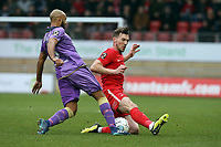 O's Craig CLay & Remy Clerima during Leyton Orient vs Maidenhead United, Vanarama National League Football at The Breyer Group Stadium on 16th February 2019