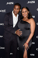 CULVER CITY, CA - MARCH 7: Cory Hardrict and Tia Mowry pictured at Crackle's The Oath Premiere at Sony Pictures Studios in Culver City, California on March 7, 2018. <br /> CAP/MPI/DE<br /> &copy;DE/MPI/Capital Pictures