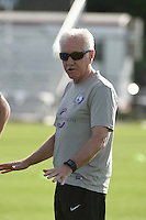 Kansas City, MO - Saturday May 28, 2016: Orlando Pride head coach Tom Sermanni. Orlando Pride head coach Tom Sermanni.  FC Kansas City defeated Orlando Pride 2-0 during a regular season National Women's Soccer League (NWSL) match at Swope Soccer Village.
