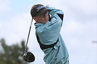 Michael Duignan (Royal Dublin) on the 10th tee during the Final round in the Connacht U16 Boys Open 2018 at the Gort Golf Club, Gort, Galway, Ireland on Wednesday 8th August 2018.<br /> Picture: Thos Caffrey / Golffile<br /> <br /> All photo usage must carry mandatory copyright credit (&copy; Golffile | Thos Caffrey)