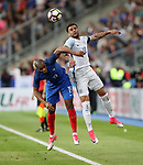 France's Djibril Sidibe tussles with England's Kyle Walker during the Friendly match at Stade De France Stadium, Paris Picture date 13th June 2017. Picture credit should read: David Klein/Sportimage