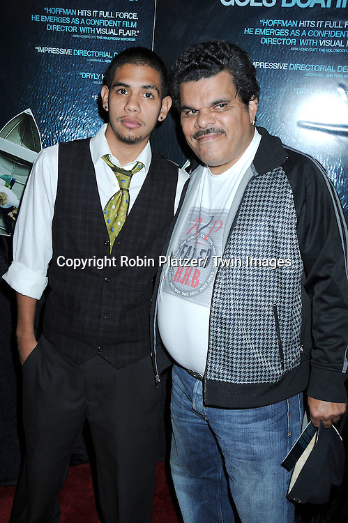 "actor Luis Guzman and son Cemi  arriving at the Premiere of ""Jack Goes Boating"" on September 16, 2010 at The Paris Theatre in New York City."