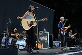 WEST PALM BEACH, FL - AUGUST 16: Sheila Marshall and Kyle Cook of Rivers and Rust perform at The Coral Sky Amphitheatre on August 16, 2017 in West Palm Beach Florida. Credit Larry Marano © 2017
