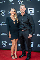 The Star, Broadbeach, Gold Coast Queensland/AUS (Sunday, March 31, 2019) Mick Fanning (AUS) with partner Breeanna Randall (AUS).  - The world's best surfers were honored tonight at the formal black tie World Surf League (WSL) Awards, the event that celebrated the achievements of the 2018 season.<br /> <br /> The evening commemorated the newly crowned World Champions across the Championship Tour, Big Wave Tour, Longboard, Pro Junior, Masters, and Grand Masters. Recognition was also delivered to the best performances, most ground-breaking moments, and exciting achievements in surfing over this past year.<br /> <br /> 2018 WSL World Champions<br /> Championship Tour: Stephanie Gilmore (AUS), Gabriel Medina (BRA)<br /> Big Wave Tour: Keala Kennelly (HAW), Grant &lsquo;Twiggy&rsquo; Baker (ZAF)<br /> Longboard: Soleil Errico (USA), Steven Sawyer (ZAF)<br /> Pro Junior: Kirra Pinkerton (USA), Mateus Herdy (BRA)<br /> Masters: Layne Beachley (AUS), Rob Bain (AUS)<br /> Grand Masters: Dave Macaulay (AUS)<br /> 2018 Championship Tour Honors<br /> Fan Favorite Award pres. by Breitling: Tatiana Weston-Webb (BRA), Gabriel Medina (BRA)<br /> Wave of the Year: Carissa Moore (HAW), Gabriel Medina (BRA)<br /> Move of the Year: Carissa Moore (HAW), Filipe Toledo (BRA)<br /> Heat of the Year: Carissa Moore (HAW) vs. Courtney Conlogue (USA) at Beachwaver Maui Pro / Gabriel Medina (BRA) vs. Conner Coffin (USA) at Billabong Pipe Masters<br /> CT Runner-Ups: Lakey Peterson (USA), Julian Wilson (AUS)<br /> CT Rookies of the Year: Caroline Marks (USA), Wade Carmichael (AUS)<br />  Photo: joliphotos.com