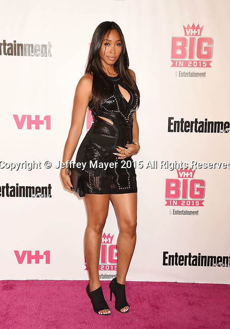 WEST HOLLYWOOD, CA - NOVEMBER 15: Actress Apryl Jones attends VH1 Big In 2015 With Entertainment Weekly Awards at Pacific Design Center on November 15, 2015 in West Hollywood, California.
