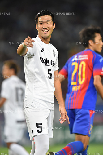 Takuya Iwanami (Vissel),<br /> AUGUST 13, 2017 - Football / Soccer :<br /> 2017 J1 League match between F.C.Tokyo 1-0 Vissel Kobe at Ajinomoto Stadium in Tokyo, Japan. (Photo by AFLO)