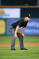 Umpire Vince Jackson during a game between the Dayton Dragons and Peoria Chiefs on May 6, 2016 at Dozer Park in Peoria, Illinois.  Peoria defeated Dayton 5-0.  (Mike Janes/Four Seam Images)