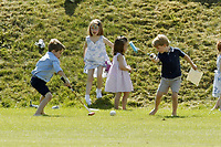 Polo at Badminton<br /> Princess Charlotte, Prince George<br /> at The Beaufort Polo Club, Tilbury, Gloucestershire, England on June 10, 2018.<br /> CAP/GOL<br /> &copy;GOL/Capital Pictures