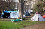 Occupy Bath anti capitalist protest camp, Queen Square, Bath, England, December 2011