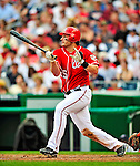 24 May 2009: Washington Nationals' right fielder Austin Kearns at bat against the Baltimore Orioles at Nationals Park in Washington, DC. The Nationals rallied to defeat the Orioles 8-5 and salvage one win of their interleague series. Mandatory Credit: Ed Wolfstein Photo