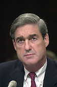 Robert S. Mueller, III appears before the U.S. Senate Judiciary Committee to be confirmed as the new Director of the Federal Bureau of Investigation (FBI) succeeding Louis F. Freeh in Washington, DC on July 30, 2001.<br /> Credit: Ron Sachs / CNP