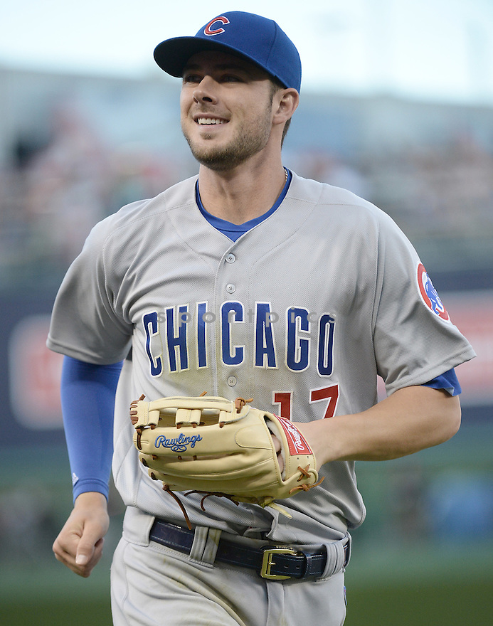 Chicago Cubs Kris Bryant (17) during a game against the Washington Nationals on June 14, 2016 at Nationals Park in Washington, DC. The Cubs beat the Nationals 4-3.