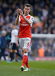 Laurent Koscielny of Arsenal Thanks the fans at the end of the match. English Premier League match at the White Hart Lane Stadium, London. Picture date: April 30th, 2017.Pic credit should read: Robin Parker/Sportimage