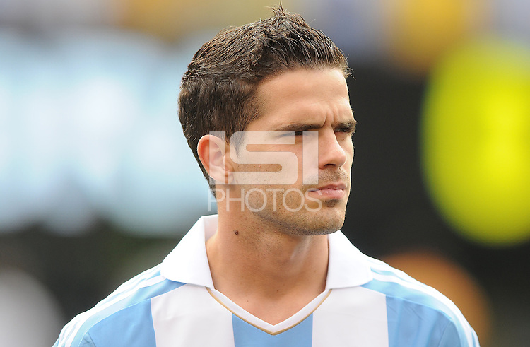 Argentina midfielder Fernando Gago (5) The Argentina National Team defeated Brazil 4-3 at MetLife Stadium, Saturday July 9 , 2012.