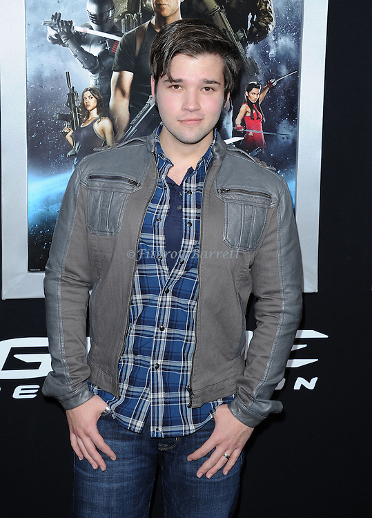 """Nathan Kress at the Los Angeles premiere of """"G.I. Joe Retaliation"""" held at TCL Chinese Theatre March 28, 2013"""