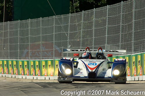 31 August 2007: The Dyson Racing Porsche RS Spyder driven by Guy Smith (XEN) at the Detroit Sports Car Challenge presented by Bosch, Detroit, MI
