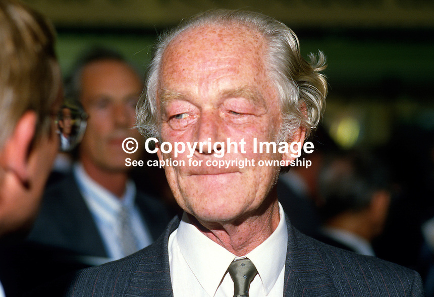 Sir Anthony Buck, MP, Conservative Party, UK, 19871006AB..Copyright Image from Victor Patterson, 54 Dorchester Park, Belfast, UK, BT9 6RJ..Tel: +44 28 9066 1296.Mob: +44 7802 353836.Voicemail +44 20 8816 7153.Skype: victorpattersonbelfast.Email: victorpatterson@me.com.Email: victorpatterson@ireland.com (back-up)..IMPORTANT: If you wish to use this image or any other of my images please go to www.victorpatterson.com and click on the Terms & Conditions. Then contact me by email or phone with the reference number(s) of the image(s) concerned.