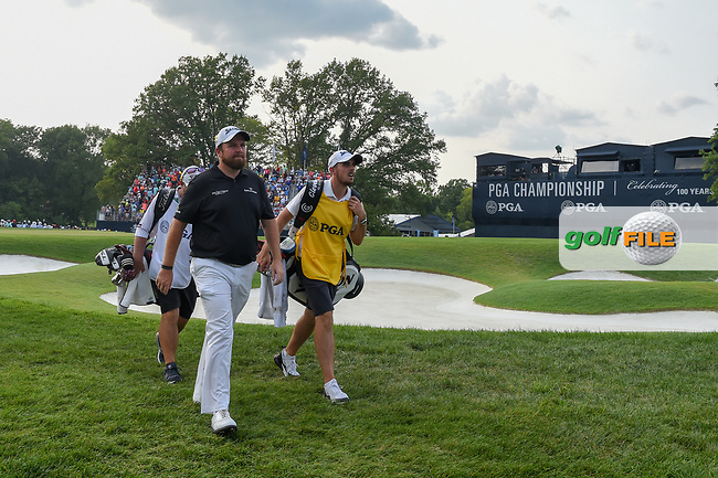 Shane Lowry (IRL) departs the green on 18 during 4th round of the 100th PGA Championship at Bellerive Country Club, St. Louis, Missouri. 8/12/2018.<br /> Picture: Golffile | Ken Murray<br /> <br /> All photo usage must carry mandatory copyright credit (© Golffile | Ken Murray)