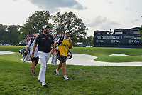 Shane Lowry (IRL) departs the green on 18 during 4th round of the 100th PGA Championship at Bellerive Country Club, St. Louis, Missouri. 8/12/2018.<br /> Picture: Golffile | Ken Murray<br /> <br /> All photo usage must carry mandatory copyright credit (&copy; Golffile | Ken Murray)