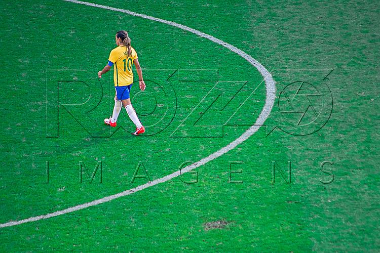 Jogo de futebol feminino entre Brasil e Canadá na Arena Corinthians, São Paulo - SP, 08/2016.
