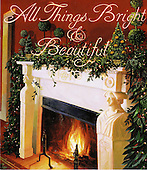 Washington, D.C. - November 30, 2005 --  First lady Laura Bush announced ÒAll Things Bright and BeautifulÓ as the theme for the 2005 holiday season at the White House in Washington, D.C. on November 30, 2005. This is the cover of the holiday booklet that will be given to all visitors and guests during the holiday season.  It was painted by Donna Green, a fourth generation artist.  She is descended from John Frederick Spencer, a noted lithographer for the first greeting card company in the United States.  .Credit: Ron Sachs / CNP