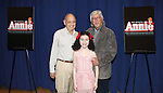 Charles Strouse, Lilla Crawford and Martin Charnin attending the Meet & Greet for 'ANNIE' at The New 42nd Street Rehearsal Studios in New York City on September 112, 2012