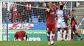 9th September 2017, Madejski Stadium, Reading, England; EFL Championship football, Reading versus Bristol City; Famara Diedhiou of Bristol City fails to get on the end of a cross