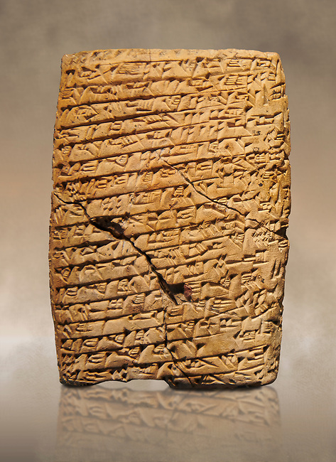 Hittite cuneiform tablet. Adana Archaeology Museum, Turkey.