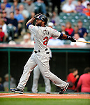 4 September 2009: Minnesota Twins' left fielder Denard Span in action against the Cleveland Indians at Progressive Field in Cleveland, Ohio. The Indians defeated the Twins 5-2 to take the first game of their three-game weekend series. Mandatory Credit: Ed Wolfstein Photo