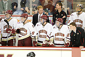Isaac MacLeod (BC - 7), Philip Samuelsson (BC - 5), Greg Brown (BC - Assistant Coach), Edwin Shea (BC - 8), Bert Lenz (BC - Dir-Sports Medicine), Patch Alber (BC - 27), Chris Venti (BC - 30), Stephen Greenberg (BC - Senior Manager) - The Boston College Eagles defeated the visiting University of Toronto Varsity Blues 8-0 in an exhibition on Saturday, October 3, 2010, at Conte Forum in Chestnut Hill, MA.