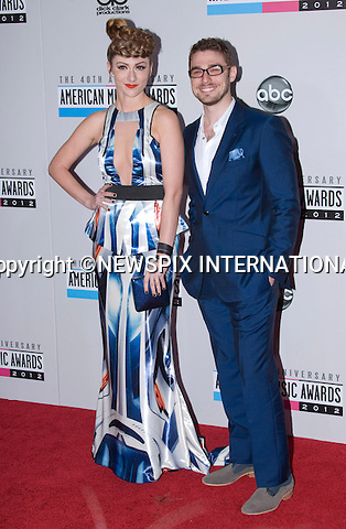 """AMY HEIDMANN AND NICK NOONAN.attends the 40th American Music Awards, Nokia Theatre, Los Angeles_18/11/2012.Mandatory Photo Credit: ©Francis Dias/Newspix International..**ALL FEES PAYABLE TO: """"NEWSPIX INTERNATIONAL""""**..PHOTO CREDIT MANDATORY!!: NEWSPIX INTERNATIONAL(Failure to credit will incur a surcharge of 100% of reproduction fees)..IMMEDIATE CONFIRMATION OF USAGE REQUIRED:.Newspix International, 31 Chinnery Hill, Bishop's Stortford, ENGLAND CM23 3PS.Tel:+441279 324672  ; Fax: +441279656877.Mobile:  0777568 1153.e-mail: info@newspixinternational.co.uk"""