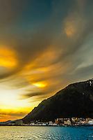 Dramatic clouds at twilight, Juneau, Southeast Alaska USA.