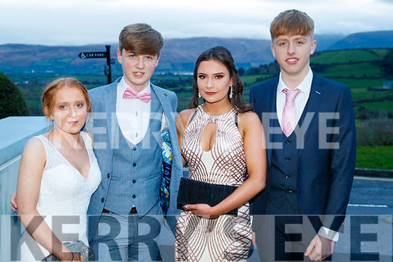 Hannah Leahy, Mitchell Hunt, Valeriya Zihhareva and Jamie O'Flaherty, pictured at the TY Ball, held at Ballyroe Heights Hotel, Tralee, on Saturday night last.