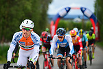 The peloton including Salmon Jersey Sindre Skjostad Lunke Team Fortuneo-Samsic in action during Stage 4 of the 2018 Artic Race of Norway, running 145.5km from Kvalsund to Alta, Norway. 18th August 2018. <br /> <br /> Picture: ASO/Gautier Demouveaux | Cyclefile<br /> All photos usage must carry mandatory copyright credit (&copy; Cyclefile | ASO/Gautier Demouveaux)