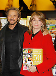 """Cast of Days Of Our Lives -  Stephen Nichols & Diedre Hall sign book """"Days Of Our Lives 50 Years"""" by Greg Meng - author & co-executive producer on October 27, 2015 at Books & Greetings, Northvale, New Jersey. (Photo by Sue Coflin/Max Photos)"""