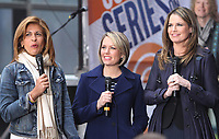 NEW YORK, NY - APRIL 19: Hoda Kotb, Dylan Dreyer and Savannah Guthrie pictured at NBC's Today Show in New York City on April 19, 2017. <br /> CAP/MPI/RW<br /> &copy;RW/MPI/Capital Pictures