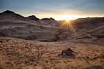 Idaho, southwest, Homedale. A remote area of Southwest Idaho in the Owyhee foothills at dawn in winter.