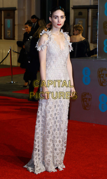 LONDON, ENGLAND - Rooney Mara at the EE British Academy Film Awards (BAFTA) 2016 - Arrivals - at the Royal Opera House, Covent Garden, on February 14th 2016 in London, England<br /> CAP/ROS<br /> &copy;ROS/Capital Pictures