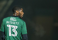 Nathan Blissett of Plymouth Argyle during the Sky Bet League 2 match between Wycombe Wanderers and Plymouth Argyle at Adams Park, High Wycombe, England on 14 March 2017. Photo by Kevin Prescod / PRiME Media Images.