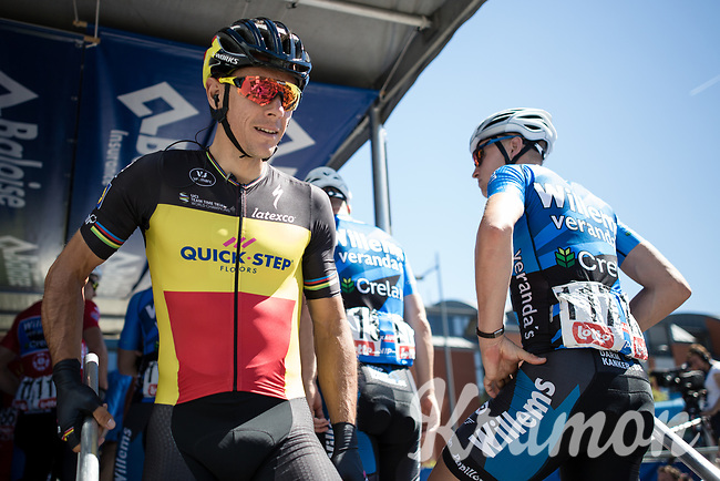 Belgian National Champion Philippe Gilbert (BEL/Quick Step Floors) pre race<br /> <br /> <br /> Baloise Belgium Tour 2017 (2.HC)<br /> Stage 4: Ans-Ans 167,8km